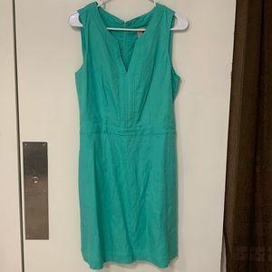 Banana Republic mint linen sheath dress NWT